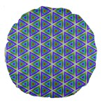 Colorful Retro Geometric Pattern Large 18  Premium Round Cushions Front
