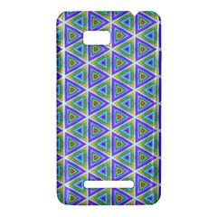 Colorful Retro Geometric Pattern HTC One SU T528W Hardshell Case