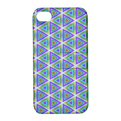Colorful Retro Geometric Pattern Apple iPhone 4/4S Hardshell Case with Stand
