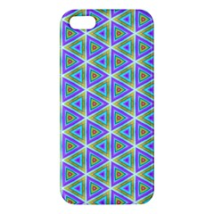 Colorful Retro Geometric Pattern Apple Iphone 5 Premium Hardshell Case