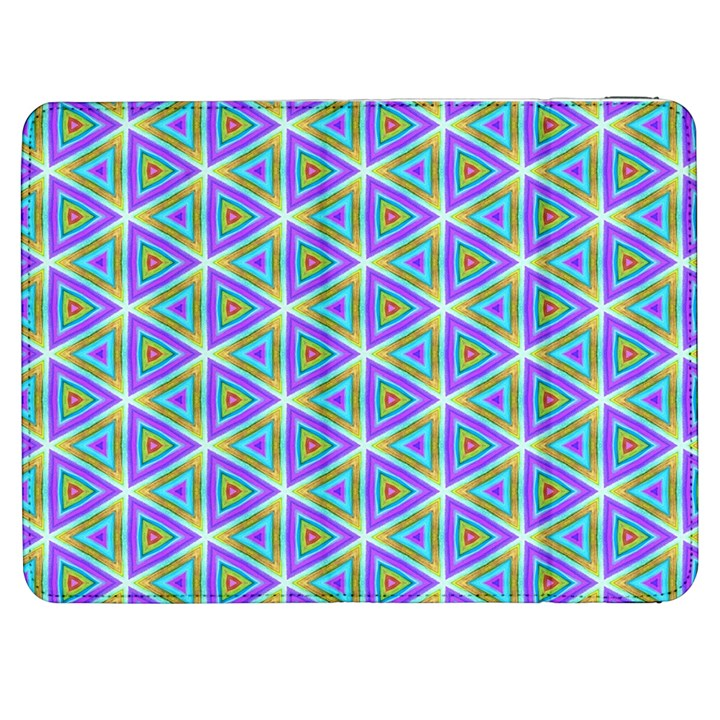 Colorful Retro Geometric Pattern Samsung Galaxy Tab 7  P1000 Flip Case