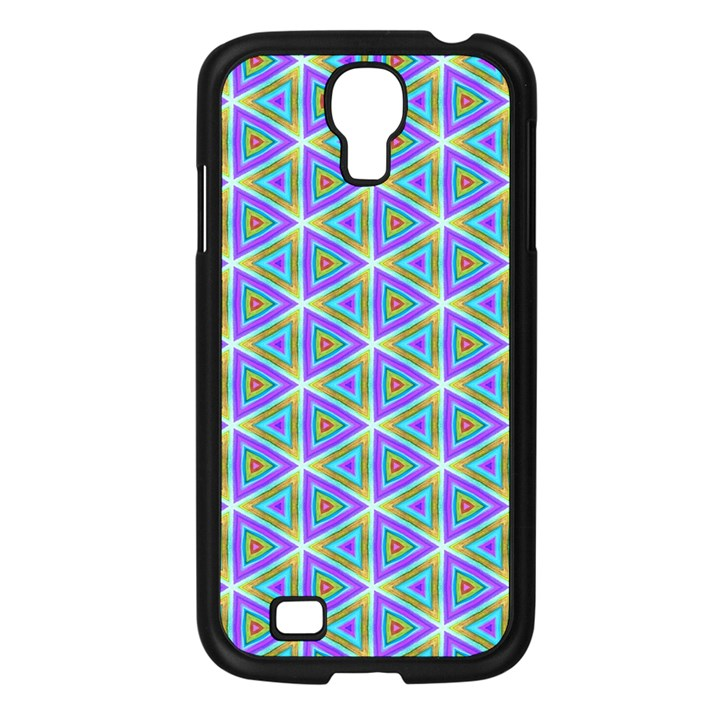 Colorful Retro Geometric Pattern Samsung Galaxy S4 I9500/ I9505 Case (Black)