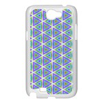Colorful Retro Geometric Pattern Samsung Galaxy Note 2 Case (White) Front