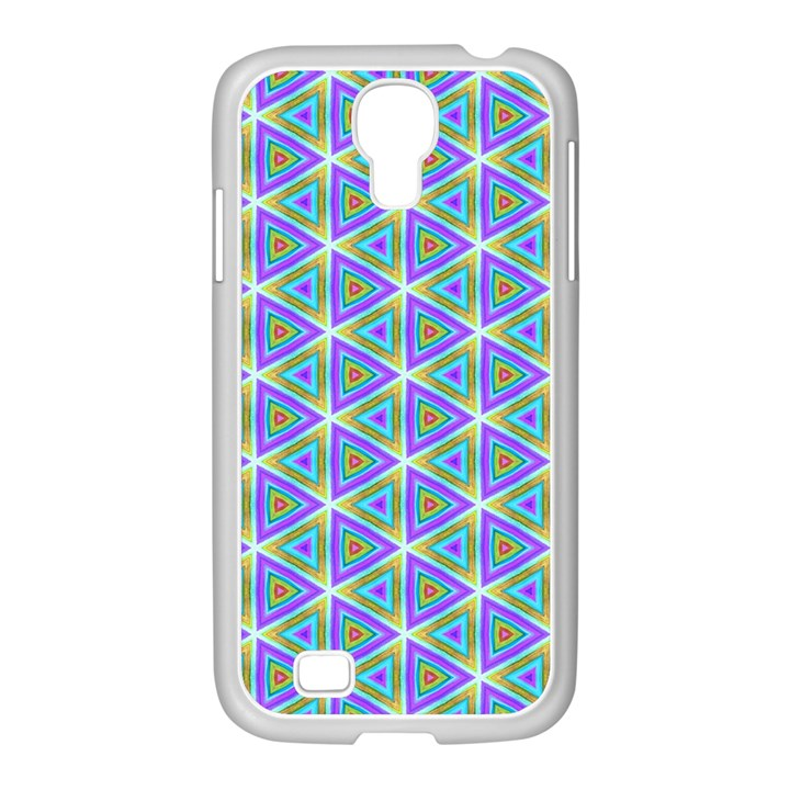 Colorful Retro Geometric Pattern Samsung GALAXY S4 I9500/ I9505 Case (White)