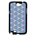 Colorful Retro Geometric Pattern Samsung Galaxy Note 2 Case (Black) Front