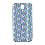 Colorful Retro Geometric Pattern Samsung Galaxy S4 I9500/I9505  Hardshell Back Case Front