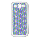 Colorful Retro Geometric Pattern Samsung Galaxy S3 Back Case (White) Front