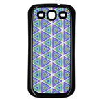 Colorful Retro Geometric Pattern Samsung Galaxy S3 Back Case (Black) Front