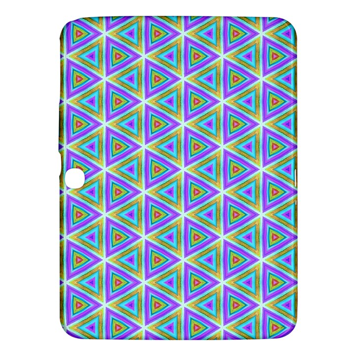 Colorful Retro Geometric Pattern Samsung Galaxy Tab 3 (10.1 ) P5200 Hardshell Case