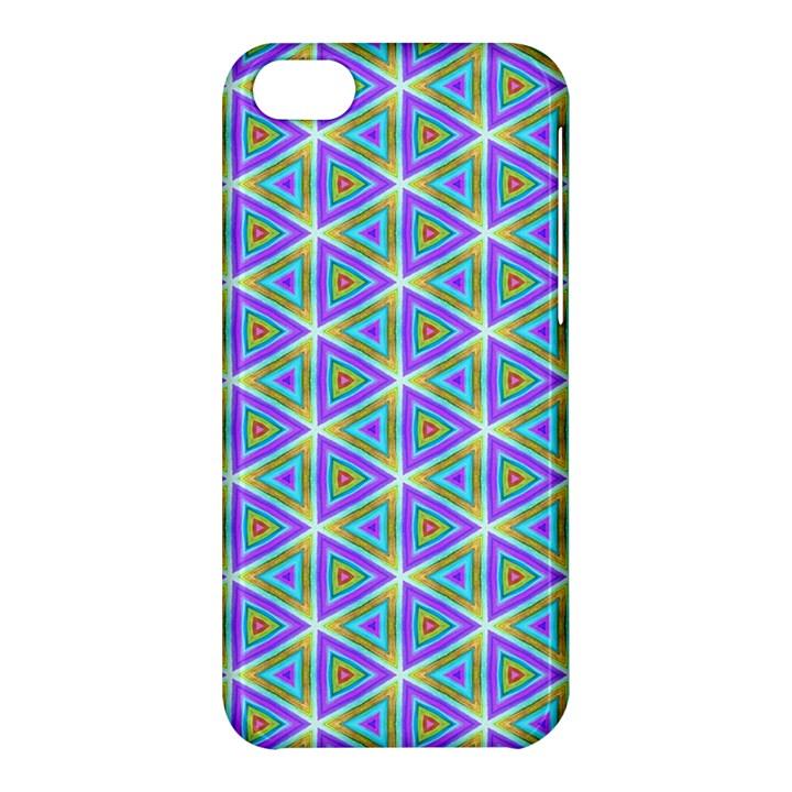 Colorful Retro Geometric Pattern Apple iPhone 5C Hardshell Case