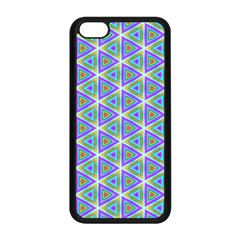 Colorful Retro Geometric Pattern Apple Iphone 5c Seamless Case (black)