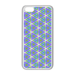 Colorful Retro Geometric Pattern Apple iPhone 5C Seamless Case (White)