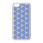 Colorful Retro Geometric Pattern Apple iPhone 5C Seamless Case (White) Front