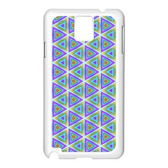 Colorful Retro Geometric Pattern Samsung Galaxy Note 3 N9005 Case (White)