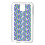 Colorful Retro Geometric Pattern Samsung Galaxy Note 3 N9005 Case (White) Front