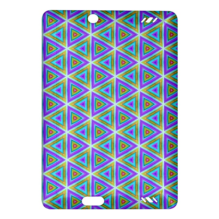 Colorful Retro Geometric Pattern Amazon Kindle Fire HD (2013) Hardshell Case