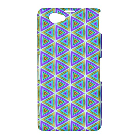 Colorful Retro Geometric Pattern Sony Xperia Z1 Compact