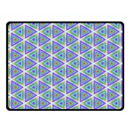 Colorful Retro Geometric Pattern Double Sided Fleece Blanket (Small)  50 x40 Blanket Back