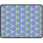 Colorful Retro Geometric Pattern Double Sided Fleece Blanket (Medium)  60 x50 Blanket Back
