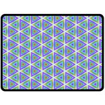 Colorful Retro Geometric Pattern Double Sided Fleece Blanket (Large)  80 x60 Blanket Back