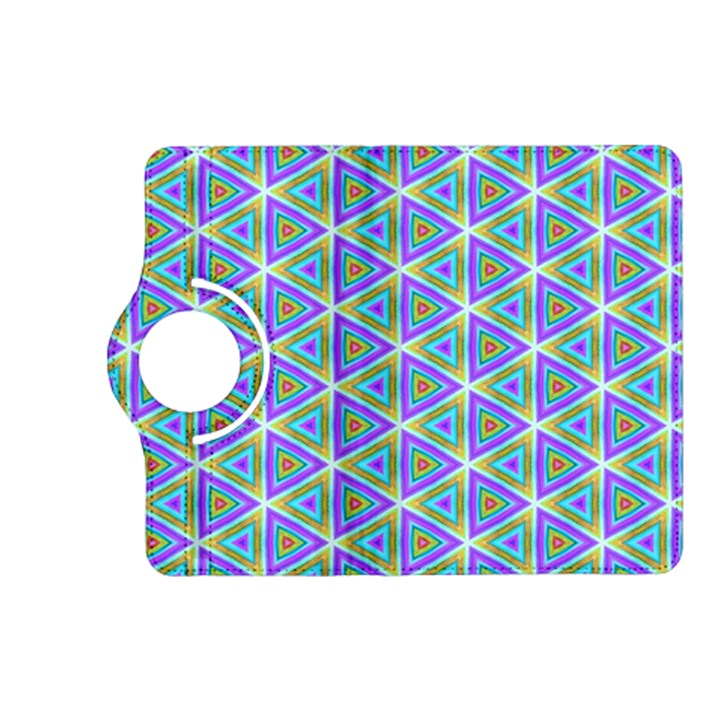 Colorful Retro Geometric Pattern Kindle Fire HD (2013) Flip 360 Case