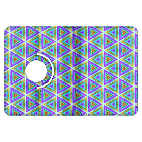 Colorful Retro Geometric Pattern Kindle Fire HDX Flip 360 Case