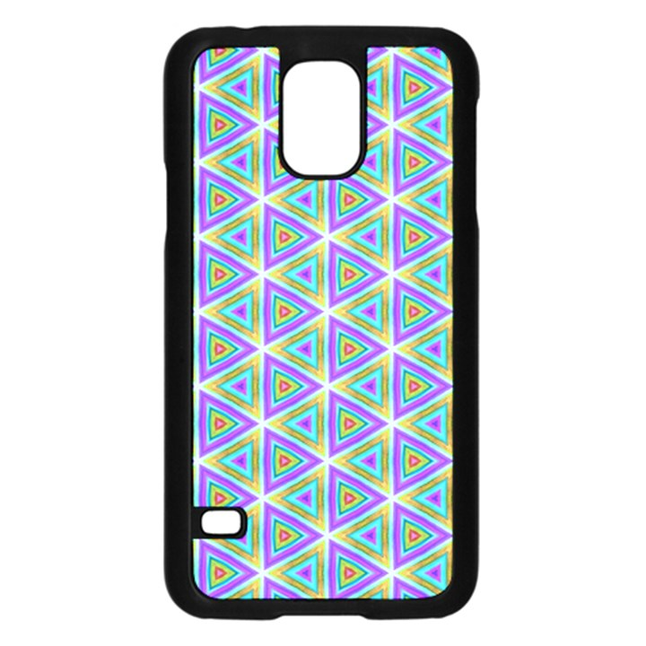 Colorful Retro Geometric Pattern Samsung Galaxy S5 Case (Black)