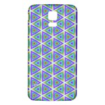 Colorful Retro Geometric Pattern Samsung Galaxy S5 Back Case (White) Front