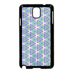 Colorful Retro Geometric Pattern Samsung Galaxy Note 3 Neo Hardshell Case (Black) Front