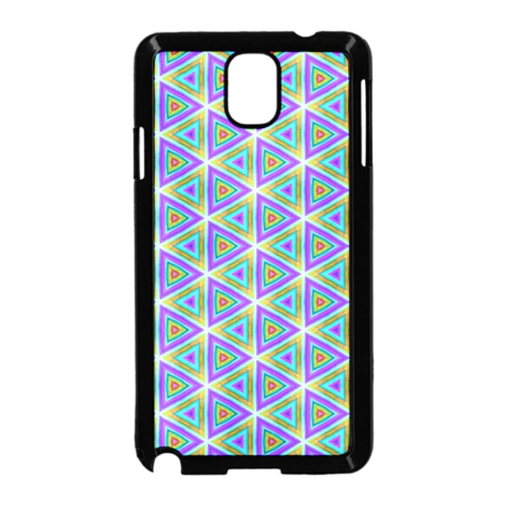 Colorful Retro Geometric Pattern Samsung Galaxy Note 3 Neo Hardshell Case (Black)