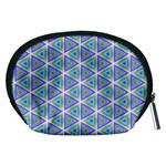 Colorful Retro Geometric Pattern Accessory Pouches (Medium)  Back