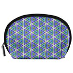 Colorful Retro Geometric Pattern Accessory Pouches (Large)  Front