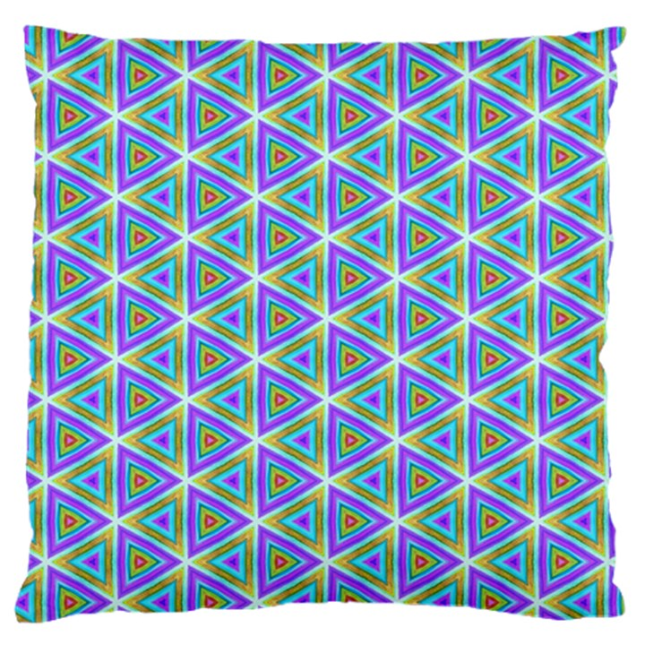 Colorful Retro Geometric Pattern Standard Flano Cushion Case (Two Sides)