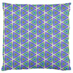 Colorful Retro Geometric Pattern Large Flano Cushion Case (Two Sides) Front