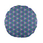 Colorful Retro Geometric Pattern Standard 15  Premium Flano Round Cushions Back