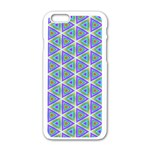 Colorful Retro Geometric Pattern Apple iPhone 6/6S White Enamel Case Front