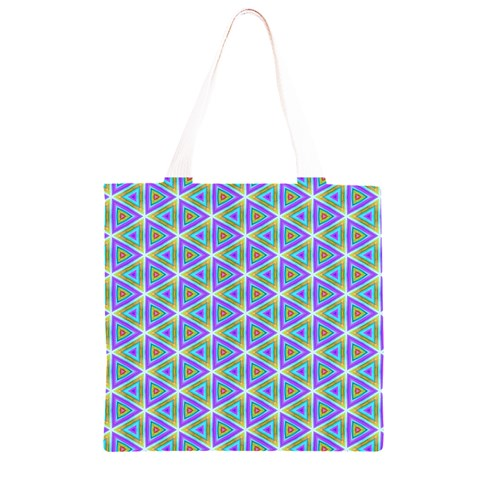 Colorful Retro Geometric Pattern Grocery Light Tote Bag