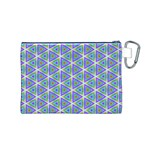 Colorful Retro Geometric Pattern Canvas Cosmetic Bag (M) Back