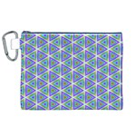 Colorful Retro Geometric Pattern Canvas Cosmetic Bag (XL) Front