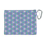 Colorful Retro Geometric Pattern Canvas Cosmetic Bag (XL) Back