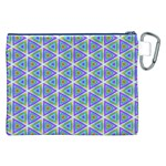 Colorful Retro Geometric Pattern Canvas Cosmetic Bag (XXL) Back