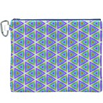 Colorful Retro Geometric Pattern Canvas Cosmetic Bag (XXXL) Front
