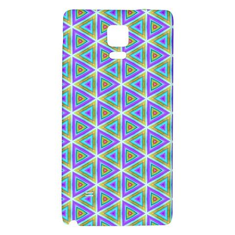 Colorful Retro Geometric Pattern Galaxy Note 4 Back Case