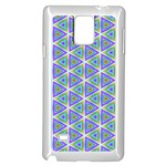 Colorful Retro Geometric Pattern Samsung Galaxy Note 4 Case (White) Front