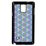 Colorful Retro Geometric Pattern Samsung Galaxy Note 4 Case (Black) Front