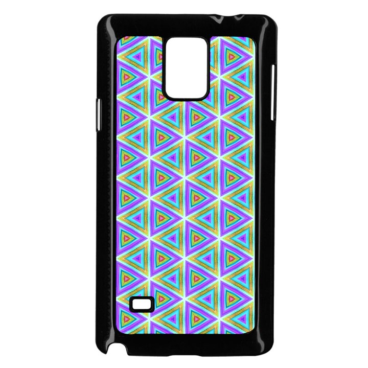Colorful Retro Geometric Pattern Samsung Galaxy Note 4 Case (Black)