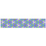 Colorful Retro Geometric Pattern Flano Scarf (Small)  Back