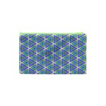 Colorful Retro Geometric Pattern Cosmetic Bag (XS) Back