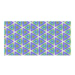 Colorful Retro Geometric Pattern Satin Wrap Front