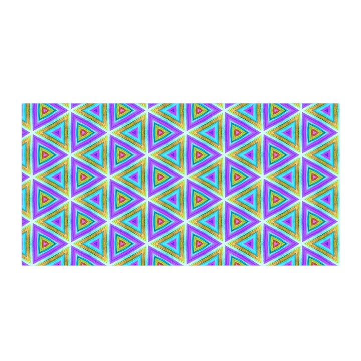 Colorful Retro Geometric Pattern Satin Wrap